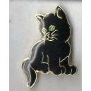 Black Cat Pin Broach