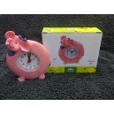 Novelty Elephant Blue Scarf Clock
