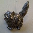 Cat Pewter Pin Badge