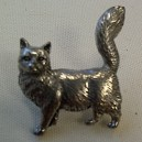 Cat Theme Pewter Pin Badge Ref 4