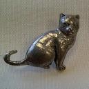 Cat Theme Pewter Pin Badge Ref 6