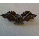 Bat Theme Pewter Pin Badge Ref PPB13