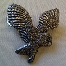 Owl Pewter Pin Badge Ref PPB15