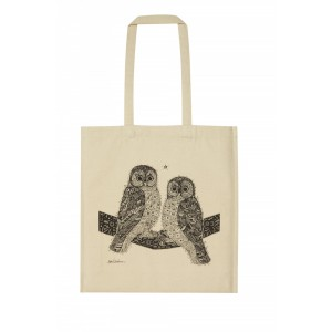 Two Hoots Animal Canvas Bag