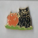 Cat and Dog Pin Broach