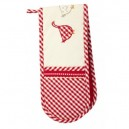 Double Gingham Duck oven glove