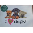 I Love Dogs Pet Mat